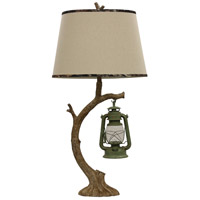 Signature 41 inch 100 watt Brown and Green Table Lamp Portable Light