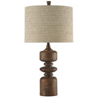 StyleCraft Home Collection MO311853DS Signature 34 inch 150 watt Cotton Wood Table Lamp Portable Light
