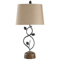 StyleCraft Home Collection MO315352DS Signature 32 inch 100 watt Brown and Black and Beige Table Lamp Portable Light