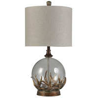 StyleCraft Home Collection MO315456DS Signature 32 inch 150 watt Bronze Oak Table Lamp Portable Light