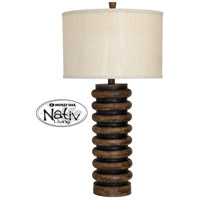 StyleCraft Home Collection MO38592DS Signature 35 inch 150 watt Dark Teak Table Lamp Portable Light