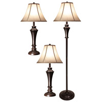 StyleCraft Home Collection PG8018DS Signature 61 inch 100 watt Bronze Wood Floor and Table Lamp Portable Light