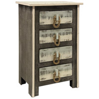 StyleCraft Home Collection SF1926DS Signature Driftwood Grey and Sky Blue and White Chest