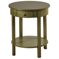 StyleCraft Home Collection SF2054DS Signature 24 X 2 inch Green Side Table