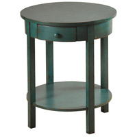 StyleCraft Home Collection SF2055DS Signature 24 X 2 inch Blue Side Table