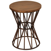 StyleCraft Home Collection SF2154DS Archer Ridge 24 X 18 inch Bronze and Dark Brown Side Table