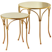 StyleCraft Home Collection SF225103DS Signature 18 inch Gold and Mirrored Side Table