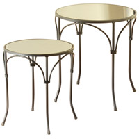 StyleCraft Home Collection SF225104DS Signature 18 inch Gun Metal and Mirroed Side Table