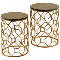 StyleCraft Home Collection SF225105DS Signature 17 inch Gold and Light Brown Nesting Table