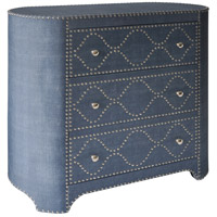 Signature Blue and Silver Cabinet