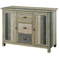 Signature 18 X 5 inch Grey and Blue Credenza