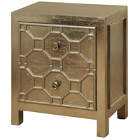 StyleCraft Home Collection SF24594DS Signature 26 X 24 inch Champagne Silver-Gold Leaf Night Stand
