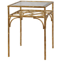 StyleCraft Home Collection SF24714DS Signature 25 X 18 inch Gold and Clear Side Table