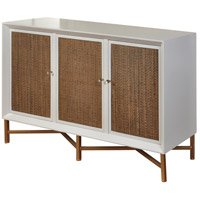 Signature 56 X 17 inch White and Natural Brown Credenza