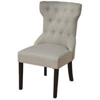 Signature Dark Espresso Brown and Ivory Chair