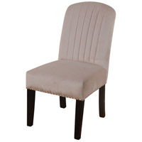 Channel Back Parson Dark Espresso Brown and Blush Velvet Dining Chair