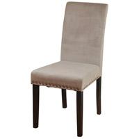 Signature Dark Espresso Brown and Dusty Rose Chair