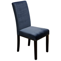 Signature Dark Espresso Brown and Dark Blue Chair