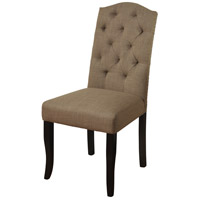 Signature Dark Espresso Brown and Beige Chair