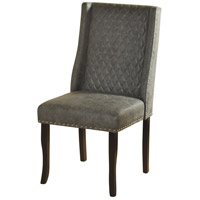 Signature Dark Brown and Grey Chair