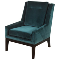 Signature Dark Espresso Brown and Teal Blue Chair