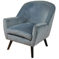 Signature Dark Espresso Brown and Spa Blue Chair