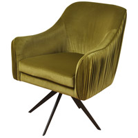 Signature Espresso and Avocado Green Chair