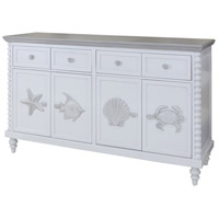 Montauk Blue and Gray Mist Cabinet
