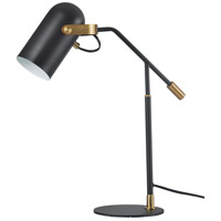 StyleCraft Home Collection TL316698DS Signature 22 inch 40 watt Matte Black and Brass Table Lamp Portable Light