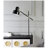 StyleCraft Home Collection TL316699DS Signature 28 inch 60 watt Matte Black and Brass Table Lamp Portable Light