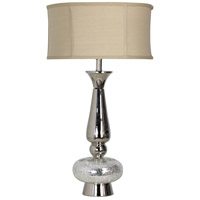 StyleCraft Home Collection TM1197DS Signature 31 inch 100 watt Polished Nickle Table Lamp Portable Light