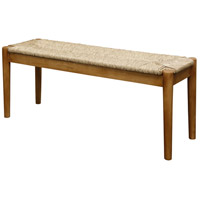 Woven Dark Natural Wood Bench