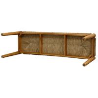 Awe Inspiring Stylecraft Home Collection Vaf13892Kkds Woven Dark Natural Wood Bench Creativecarmelina Interior Chair Design Creativecarmelinacom