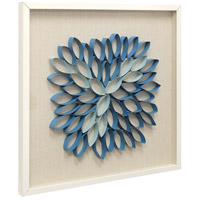 Blue Lotus Blue and Linen Wall Art