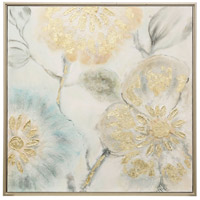 Tulip Tree Blooms Antique Silver Wall Art