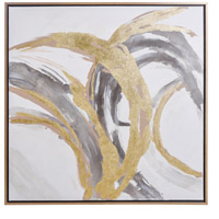 Contemporary Motion Brass and Brown Wall Art