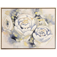 Posy Peonies Brass and Black Wall Art