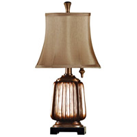 Signature 21 inch 40 watt Antique Copper Table Lamp Portable Light