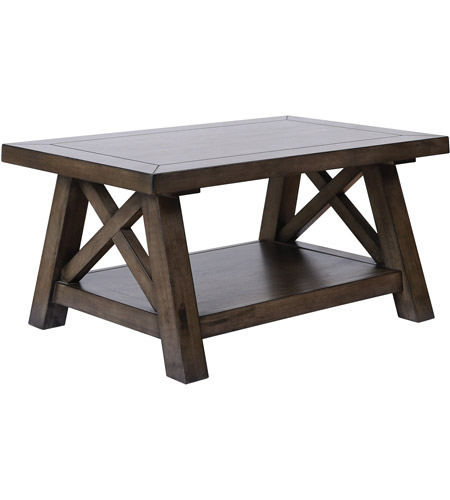 Stein World 16986 Manteo 42 X 23 Inch Farmhouse Grey Brown Stain Coffee Table Photo