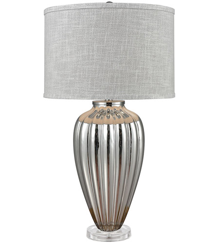 Stein World 76075 Clothilde 33 Inch 150 Watt Silver Gl Clear Acrylic Table Lamp Portable Light