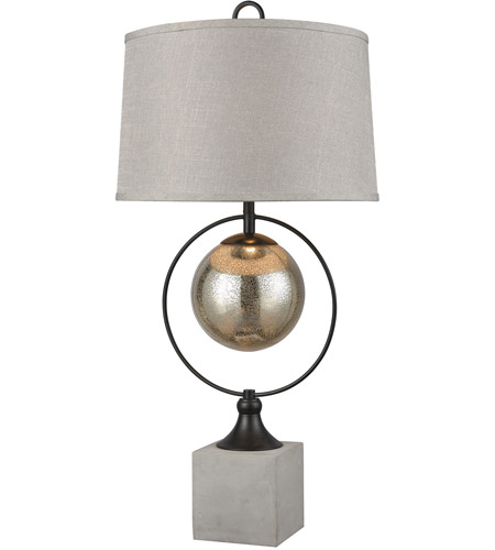 Stein World 77081 Front Royal 36 inch 150 watt Concrete with Bronze Table Lamp Portable Light photo