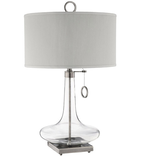 Stein World 98819 Eden 29 inch 100 watt Clear and Antique Brass Table Lamp Portable Light photo