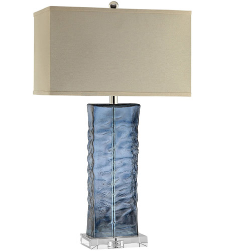 Nice Stein World 99763 Arendell 29 Inch 150 Watt Blue And Clear Table Lamp  Portable Light Photo