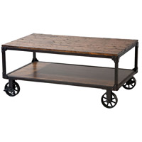 Holly 48 X 26 inch Black Cart Table Home Decor