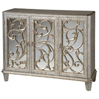 Leslie Antique Silver and Black Cabinet