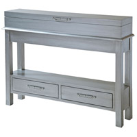 Messina 48 X 10 inch Silver and Brushed Nickel Table Home Decor