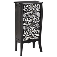 Stein World 12834 Ivona 39 inch Ebony and Alabaster Jewelry Armoire