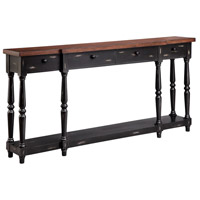 Simpson 72 X 12 inch Black Console Home Decor