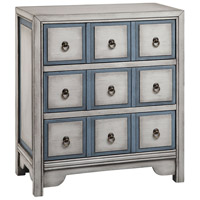Adley White and Blue.Bronze Apothecary Chest