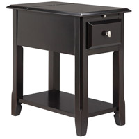 Regis 22 X 13 inch Black Satin Chairside Table Home Decor